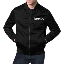 Load image into Gallery viewer, Nasa Worm Bomber Jacket (Black)