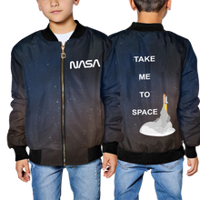 Charger l'image dans la galerie, Nasa Worm Bomber Jacket (Galaxy) - Youth