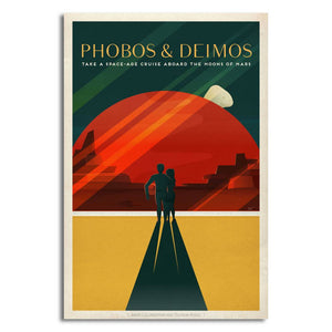 SpaceX Retro Space Travel Posters