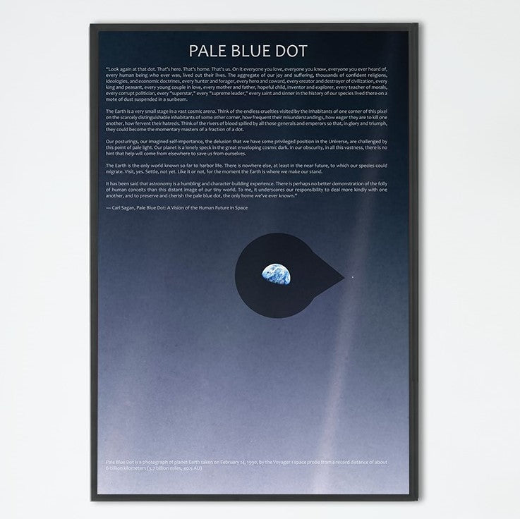 The Pale Blue Dot Poster