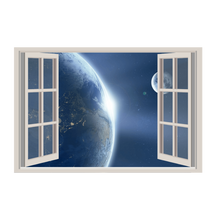 Charger l'image dans la galerie, Earth and its Satellite Window View WallArt Poster