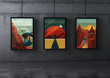 Load image into Gallery viewer, SpaceX Retro Space Travel Posters