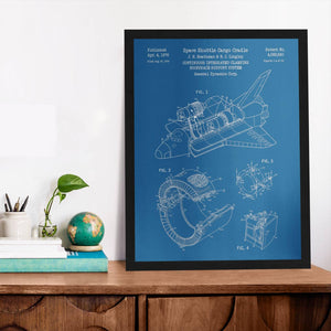 Space Shuttle Patent (1978) Poster
