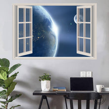 Load image into Gallery viewer, Earth and its Satellite Window View Poster