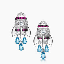 Load image into Gallery viewer, Silver Rocket Earrings