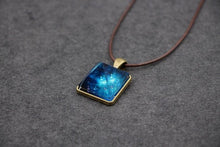 Load image into Gallery viewer, The Glowing Space Pyramid Pendant