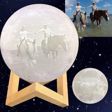Load image into Gallery viewer, Personalized Moon Lamp - Custom Photo+Text Moon Lamp