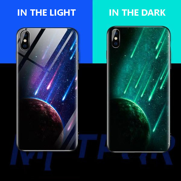 Luminous Tempered Glass Case For iPhone - Meteor