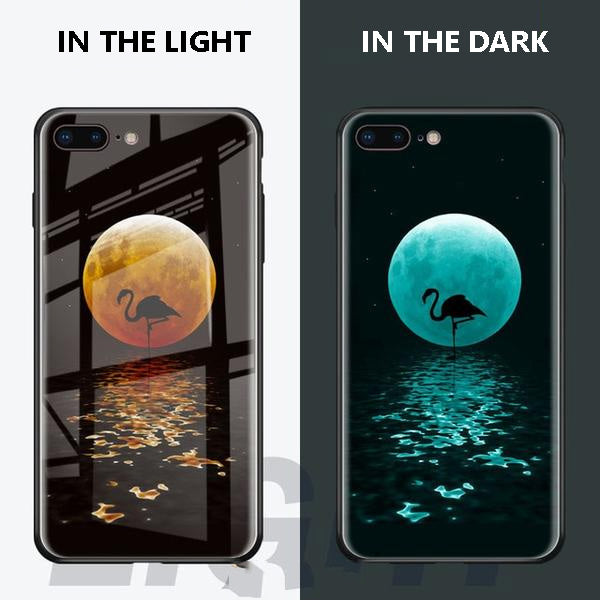 Luminous Tempered Glass Case For iPhone - Moon Light