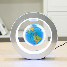 Load image into Gallery viewer, Floating Rotating Earth Globe Lamp (Circle Base)