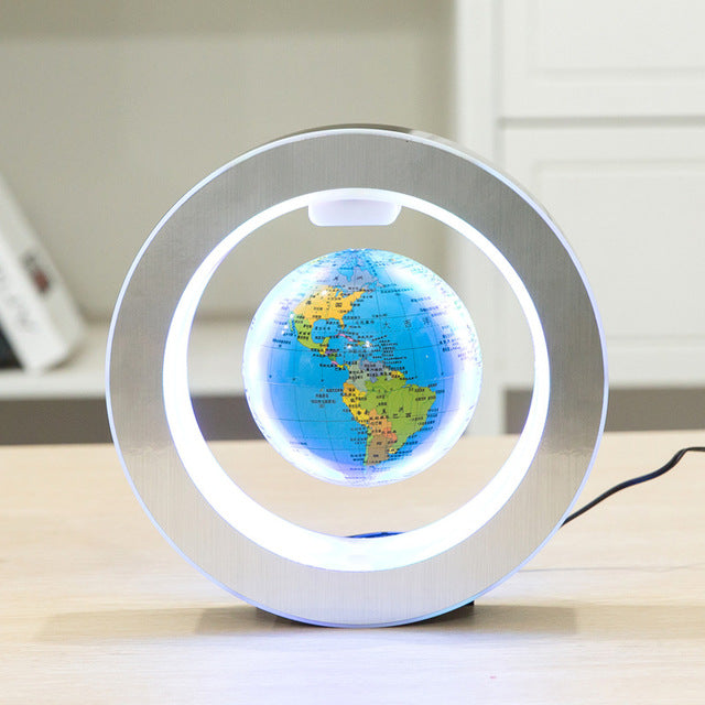 Floating Rotating Earth Globe Lamp (Circle Base)