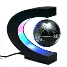 Load image into Gallery viewer, Floating Rotating Earth Globe Lamp (C-Shaped)