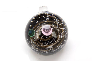 Andromeda Galaxy Glass Pendant