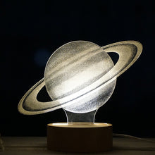 Load image into Gallery viewer, Saturn - Acrylic 3D Lamp