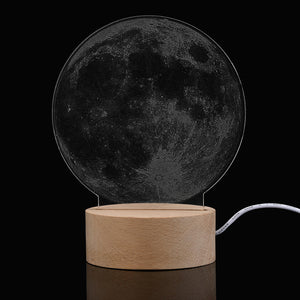 The Moon - Acrylic 3D Lamp
