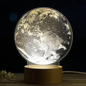 Earth - Acrylic 3D Lamp