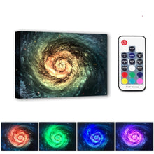 Load image into Gallery viewer, Luminous Wood Framed Canvas Wall Decor - The Milky Way