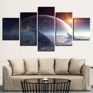Earth from The Cosmos 5 Pieces  Canvas Poster