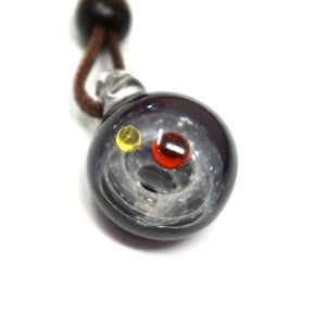 Amphitrite Galaxy Glass Pendant