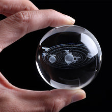 Load image into Gallery viewer, Solar System Ball 3D Lasered Glass