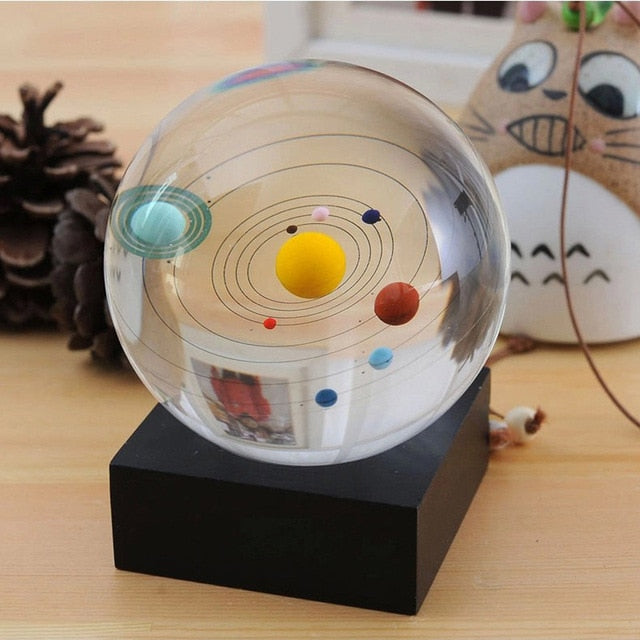 Solar System Crystal Ball Decoration