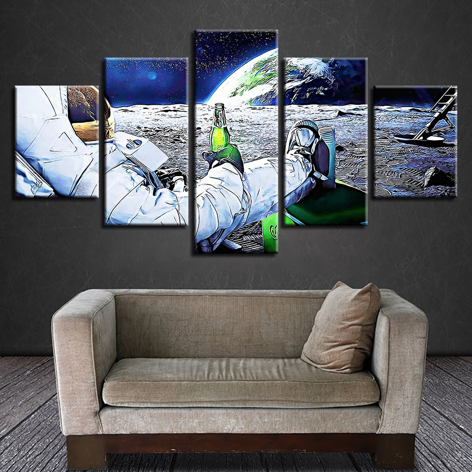 Let's Grab A Beer - 5 Pieces  Framed Canvas