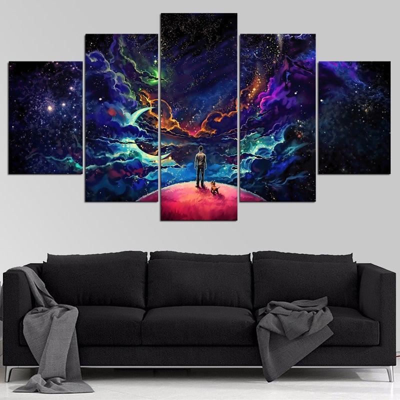 Lost In The Cosmos 5 Pieces Canvas