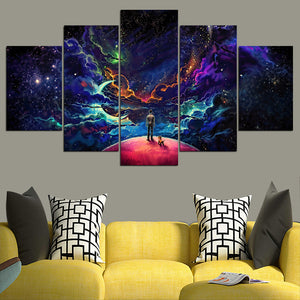 Lost In The Cosmos - 5 Pieces  Framed Canvas