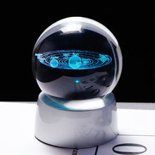 Load image into Gallery viewer, Solar System Ball 3D Lasered Glass (Luminous)