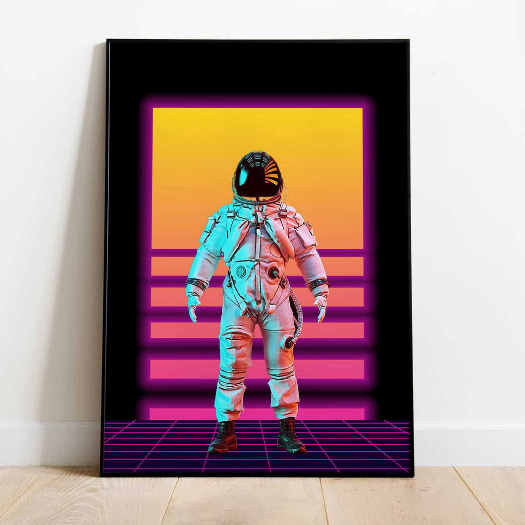 The Synthwave Astronaut WallArt Poster