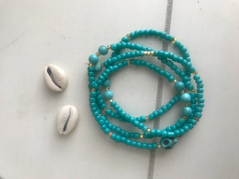 Stay True -  Turquoise Waist Beads