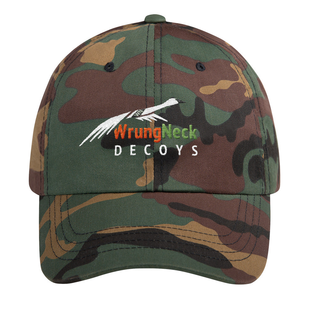 Dad hat with WrungNeck Decoys logo