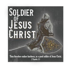 Soldier Of Jesus Christ - Decal