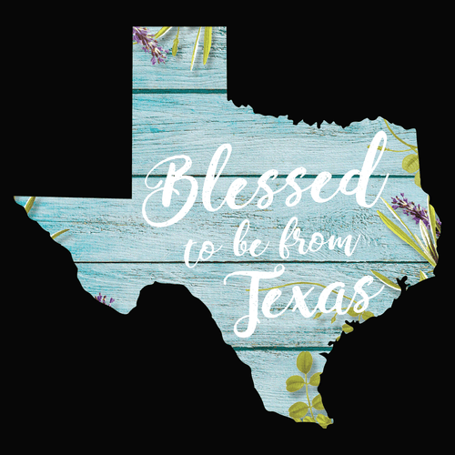 Blessed to be from Texas- Floral Fence