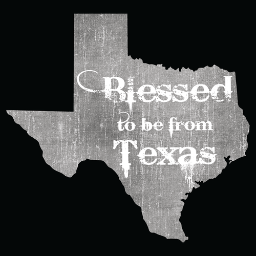 Blessed to be from Texas- Grey Rugged