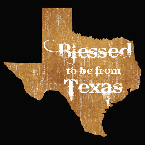 Blessed to be from Texas- Orange Rugged
