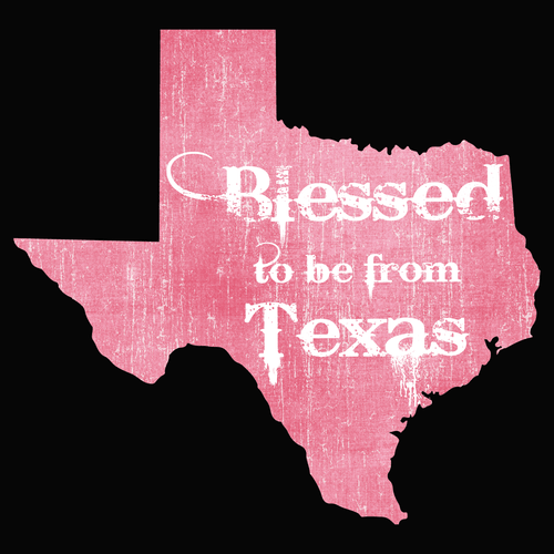 Blessed to be from Texas- Pink Rugged