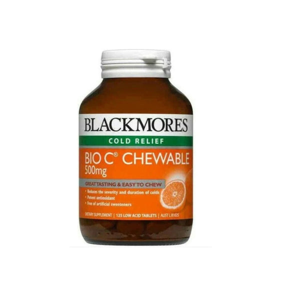 Blackmores Bio C 500mg Chewable 125 tabs