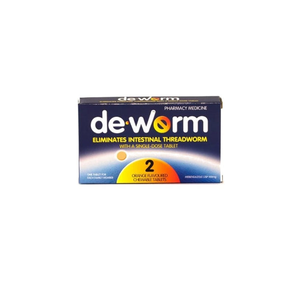 DE-WORM 100mg 2 tablets