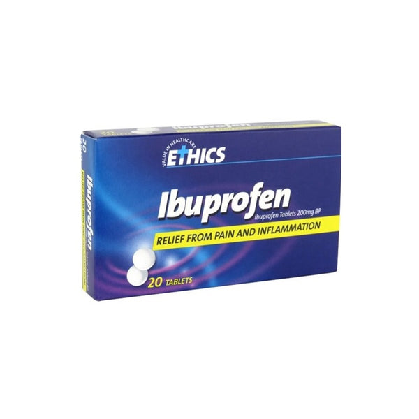 ETHICS Ibuprofen 200mg Film Coated 20 Tablets