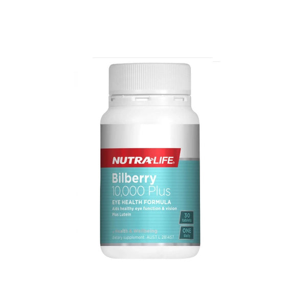 Nutra-Life Bilberry 10000mg + Lutein 30tabs