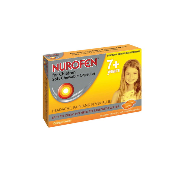 NUROFEN Child 7+ Chew. Orange 12s