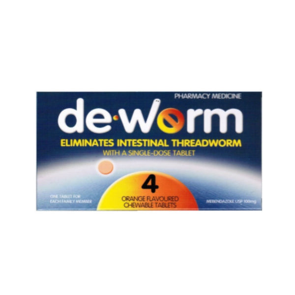 DE-WORM 100mg 4 tablets
