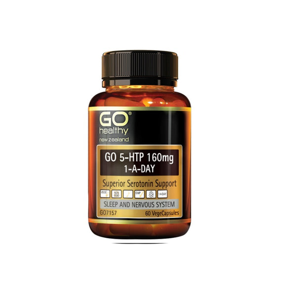Go Healthy 5HTP 160mg 1-A-Day 60vcaps