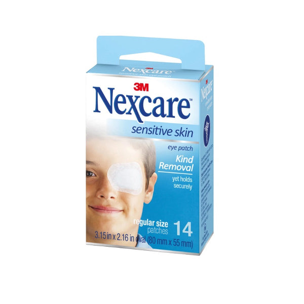 Nexcare Sens. Skin Eye Patch Reg 14