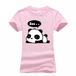 Lovely Panda Print T-Shirt for Women - Voilet Panda Store