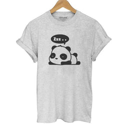 Cotton Fashion Panda Print Women's T-shirt - Voilet Panda Store