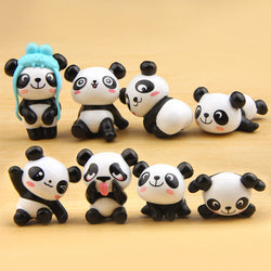 Super Cute Panda Action Figures 8 pcs/lot - Voilet Panda Store