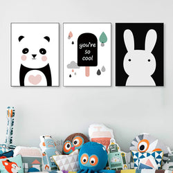 Nordic Style Kids Decoration Wall Art - Voilet Panda Store