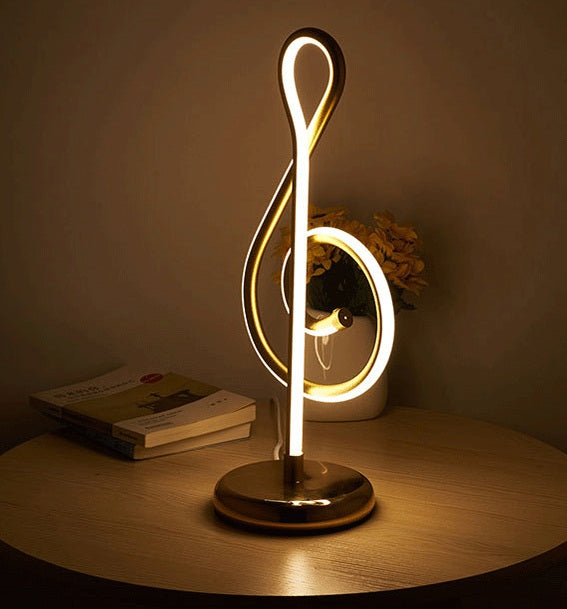 LED Musical Note desk lamp